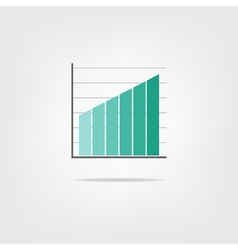 infographics growing graph vector image