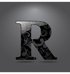 Letter R vector image vector image
