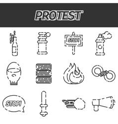 Protest icon set vector image