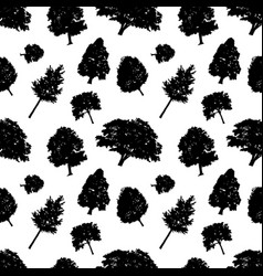 seamless pattern black silhouettes style vector image
