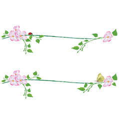 set of spring dividers vector image