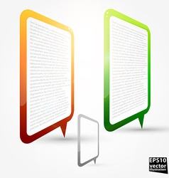 Speech Bubble Design vector image