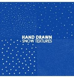 Winter snowfall hand drawn spray texture vector image