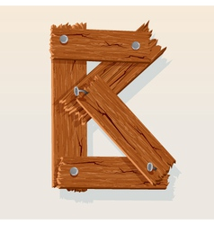 wooden letter b vector image vector image