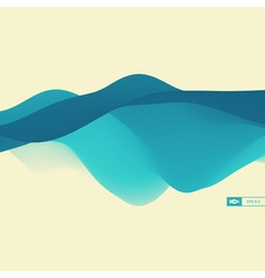 3D Wavy Background Dynamic Effect Design vector image