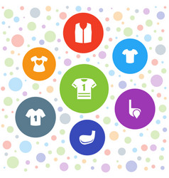 7 tee icons vector image