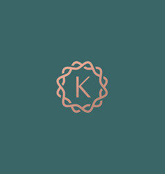 Abstract linear monogram letter k logo icon design vector