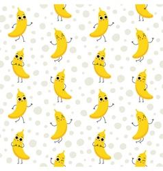 Bananas seamless pattern vector
