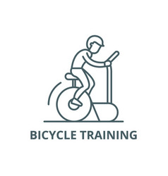 bicycle training line icon bicycle vector image
