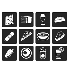 Black Shop food and drink icons 2 vector