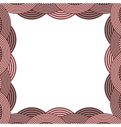 Border with striped circular in color vector