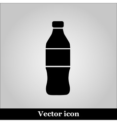Bottle Icon on grey background vector image