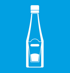 Bottle of ketchup icon white vector
