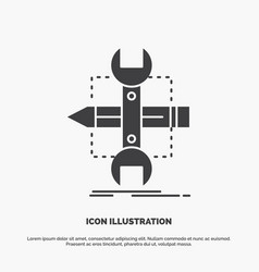 build design develop sketch tools icon glyph gray vector image