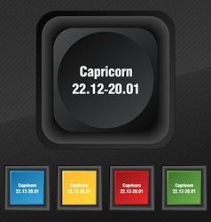 Capricorn icon symbol Set of five colorful stylish vector