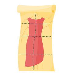 Cartoon tailor pattern fashionable cloth big vector