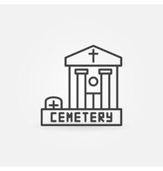 Cemetery building icon vector
