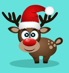 christmas reindeer christmas card vector image