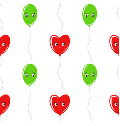 color seamless pattern of balloons cartoon simple vector image