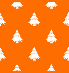 coniferous tree pattern seamless vector image