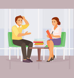 Counseling psychologist vector