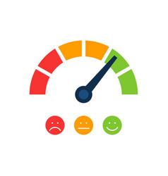 Creative rating customer satisfaction meter vector