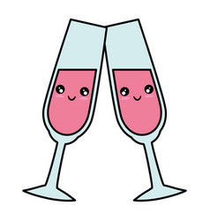 cute champagne cup vector image