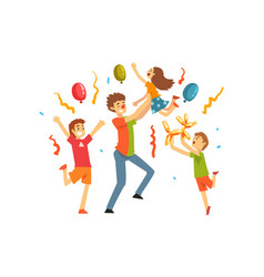 cute kids celebrating party happy children having vector image