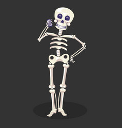 Day dead skeleton talking phone mexican vector