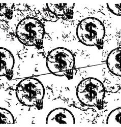 Dollar click pattern grunge monochrome vector
