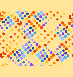 Dotted seamless pattern chaotic points vector