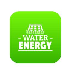 drop water energy icon green vector image