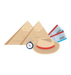 Egyptian pyramids design vector