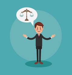 Executive lawyer cartoon vector