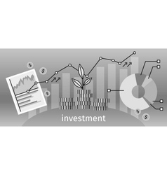 Finance Investment Concept Banner vector image
