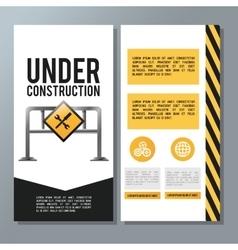 Flat about under construction design vector