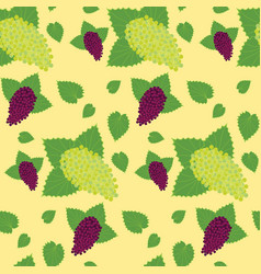 Flat berry seamless pattern vector