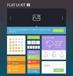 Flat user interface kit for web and mobile 3 vector