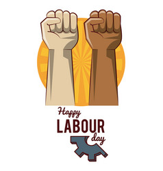 Happy labour day card vector