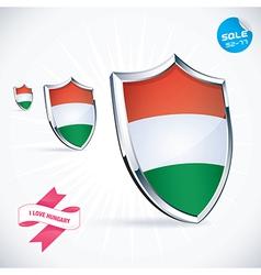 I Love Hungary Flag vector image