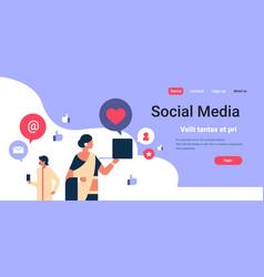 indian couple man woman social media communication vector image
