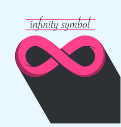 infinity icon endless symbol vector image