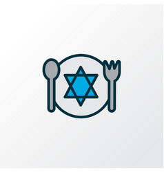 Kosher food icon colored line symbol premium vector