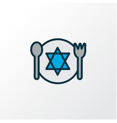 Kosher food icon colored line symbol premium vector