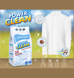 Laundry detergent advertising template vector