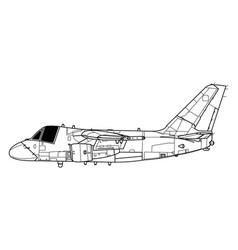 lockheed s-3 viking vector image