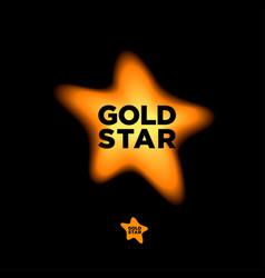 logo star gold vector image