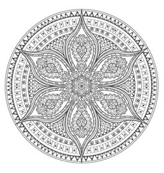 mandala oriental decorative flower pattern vector image