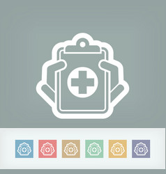 medical records icon vector image