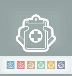medical records icon vector image